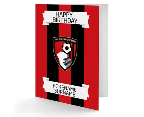 Personalised Bournemouth Birthday Card - Official Merchandise Gifts