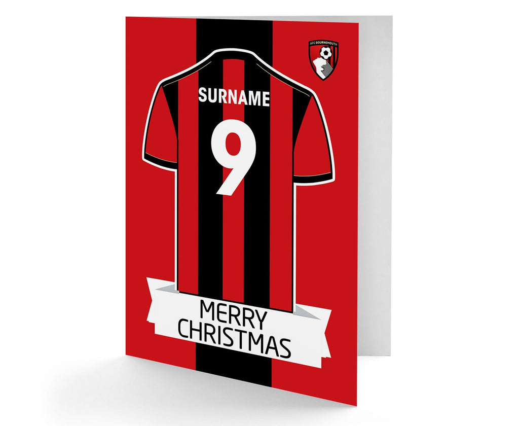 Personalised Bournemouth Christmas Card - Official Merchandise Gifts