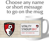 Personalised Bournemouth Mug - Street Sign - Official Merchandise Gifts