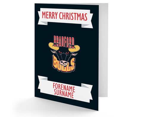 Personalised Bradford Bulls Christmas Card - Official Merchandise Gifts