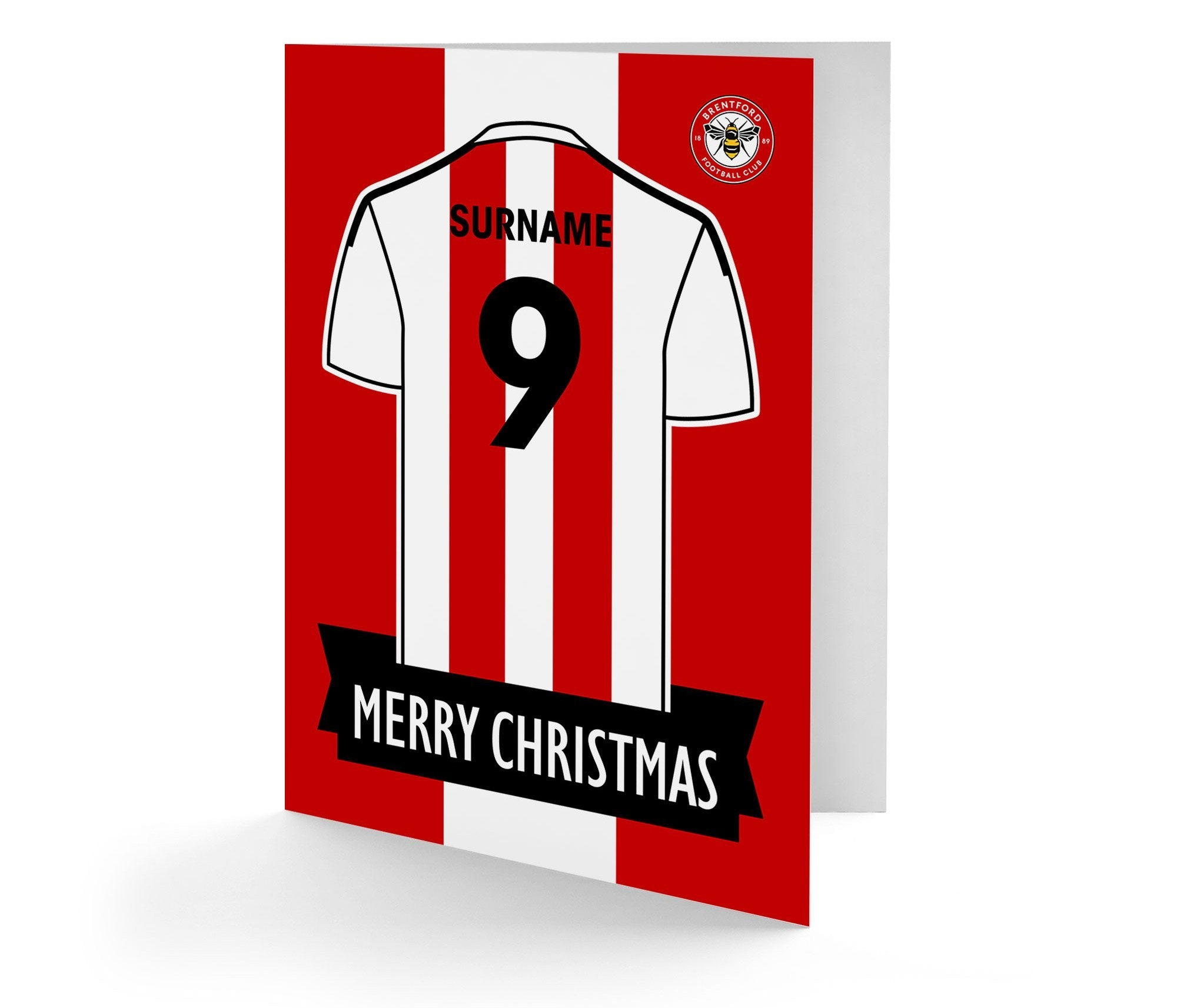 Personalised Brentford Christmas Card, Arts & Entertainment by Glamorous Gifts UK
