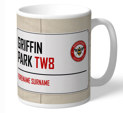 Personalised Brentford Mug - Street Sign - Official Merchandise Gifts