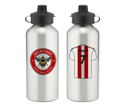 Personalised Brentford Water Bottle - Official Merchandise Gifts