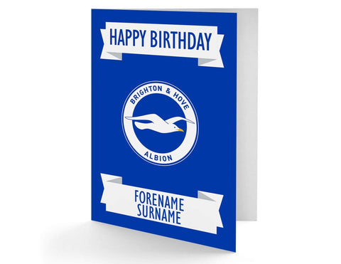 Personalised Brighton Birthday Card - Official Merchandise Gifts