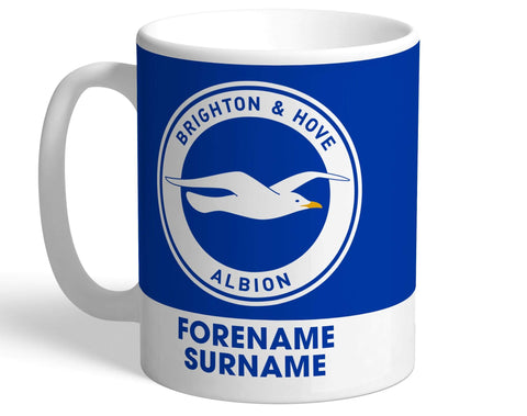 Personalised Brighton Crest Mug - Official Merchandise Gifts