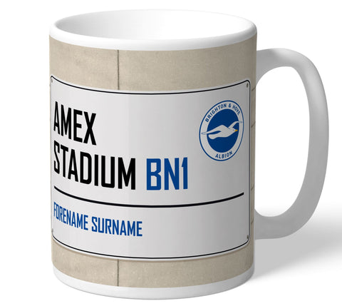 Personalised Brighton Mug - Street Sign - Official Merchandise Gifts