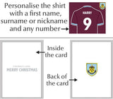 Personalised Burnley Christmas Card - Official Merchandise Gifts