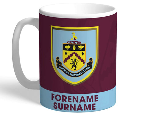 Personalised Burnley Crest Mug - Official Merchandise Gifts