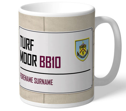 Personalised Burnley Mug - Street Sign - Official Merchandise Gifts