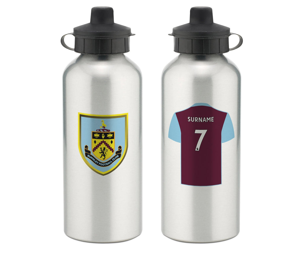 Personalised Burnley Water Bottle - Official Merchandise Gifts