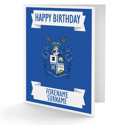 Personalised Bury Birthday Card - Official Merchandise Gifts