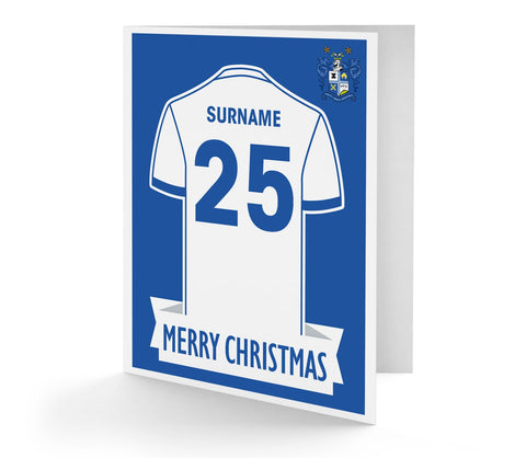 Personalised Bury Christmas Card - Official Merchandise Gifts