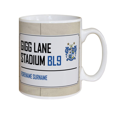 Personalised Bury Mug - Street Sign - Official Merchandise Gifts