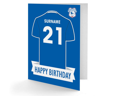 Personalised Cardiff Birthday Card - Official Merchandise Gifts