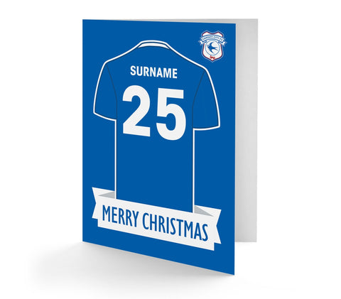 Personalised Cardiff Christmas Card - Official Merchandise Gifts