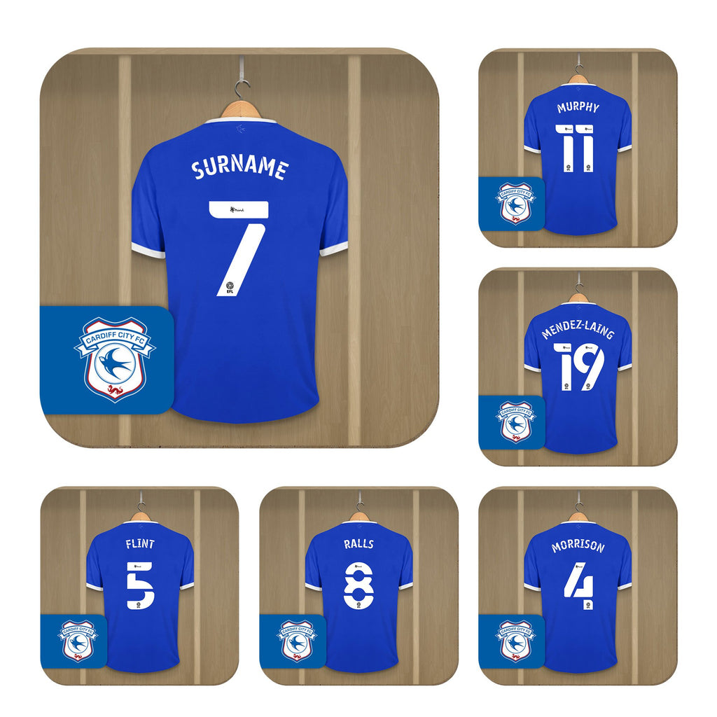 Personalised Cardiff City Dressing Room Coasters - Official Merchandise Gifts