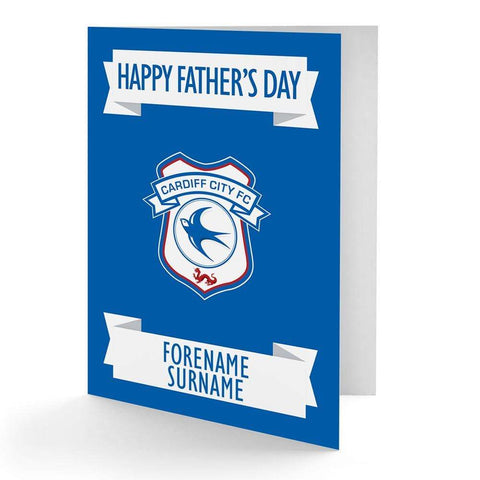 Personalised Cardiff Fathers Day Card - Official Merchandise Gifts
