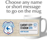 Personalised Cardiff Mug - Street Sign - Official Merchandise Gifts