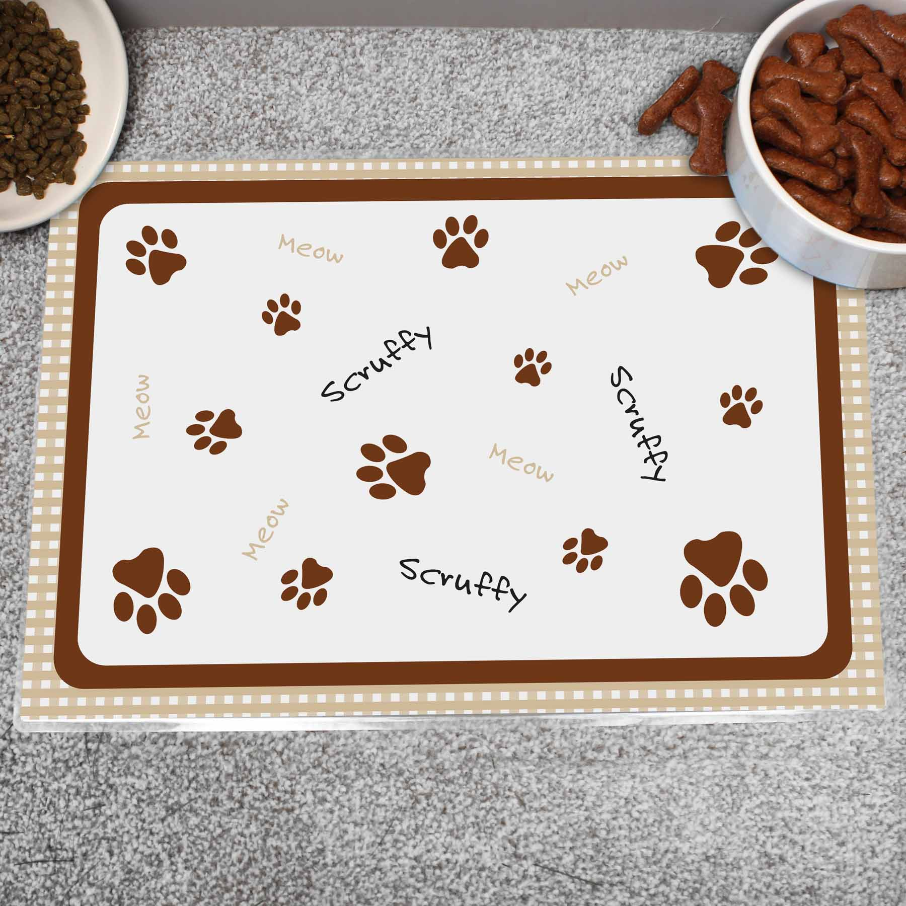 Personalised Cat Placemat, Pet Bowl Mats by Glamorous Gifts