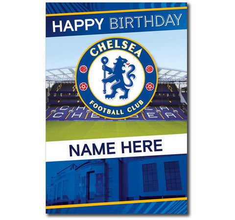 Personalised Chelsea FC Crest Birthday Card - Official Merchandise Gifts