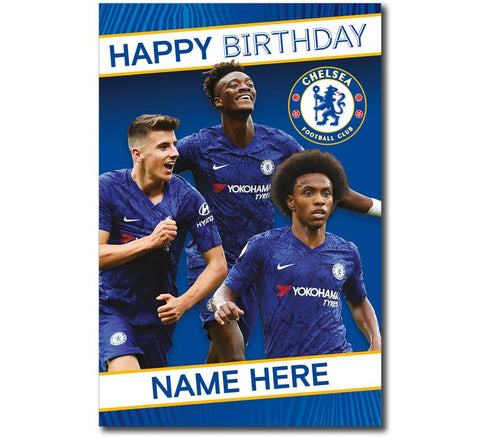 Personalised Chelsea FC Player Birthday Card - Official Merchandise Gifts