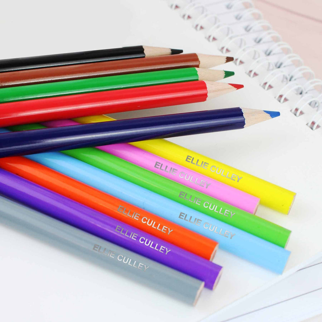 Personalised Childrens Pencil Crayons - Official Merchandise Gifts