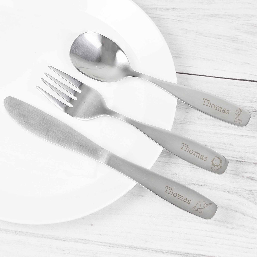 Personalised Cutlery Set - Animals
