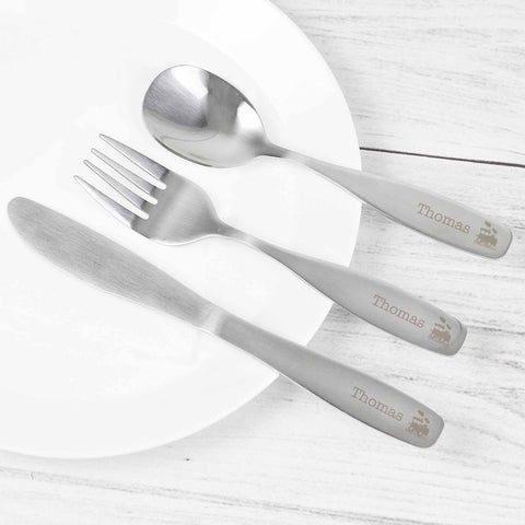 Personalised Cutlery Set - Train