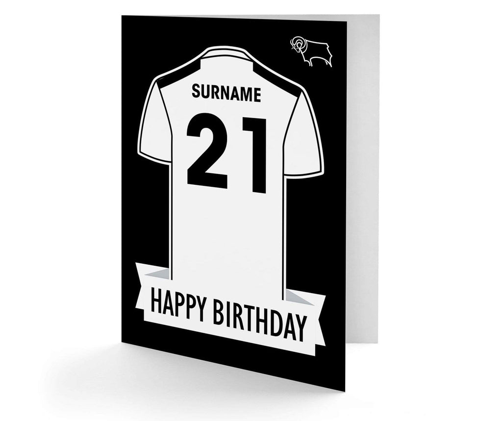 Personalised Derby Birthday Card - Official Merchandise Gifts