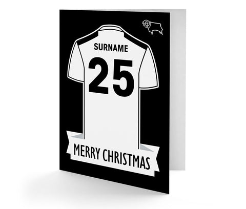 Personalised Derby Christmas Card - Official Merchandise Gifts