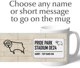 Personalised Derby Mug - Street Sign - Official Merchandise Gifts