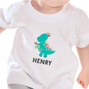 Personalised Dinosaur Baby / Toddler Boys T-Shirt - Official Merchandise Gifts