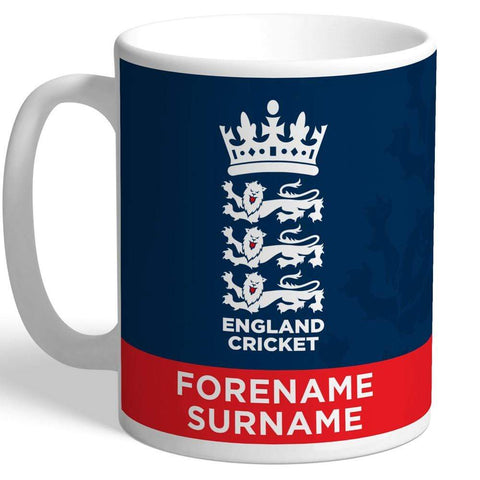 Personalised England Cricket Mug - Official Merchandise Gifts
