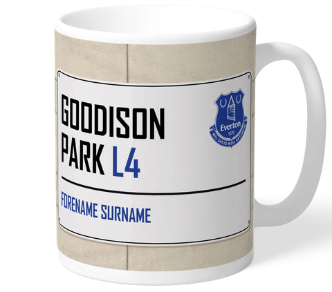 Personalised Everton Mug - Street Sign - Official Merchandise Gifts