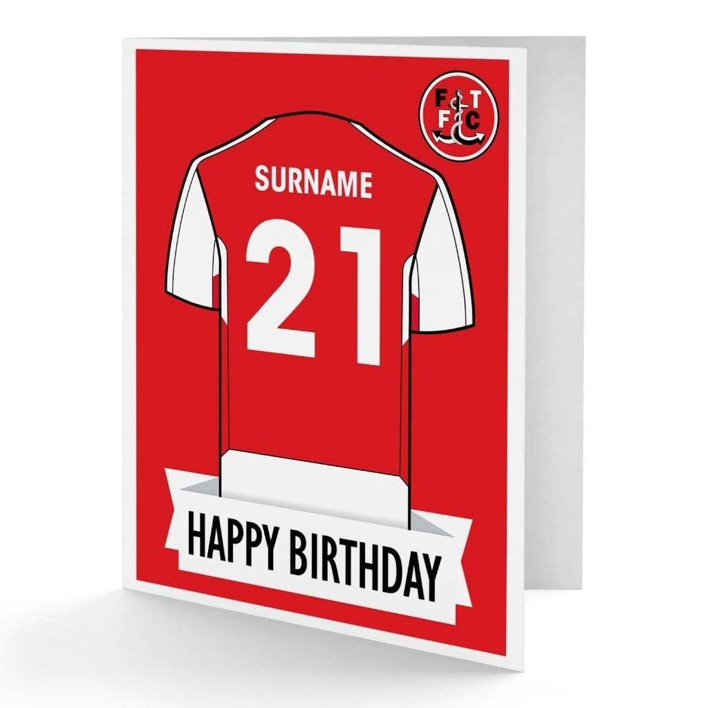 Personalised Fleetwood Birthday Card - Official Merchandise Gifts