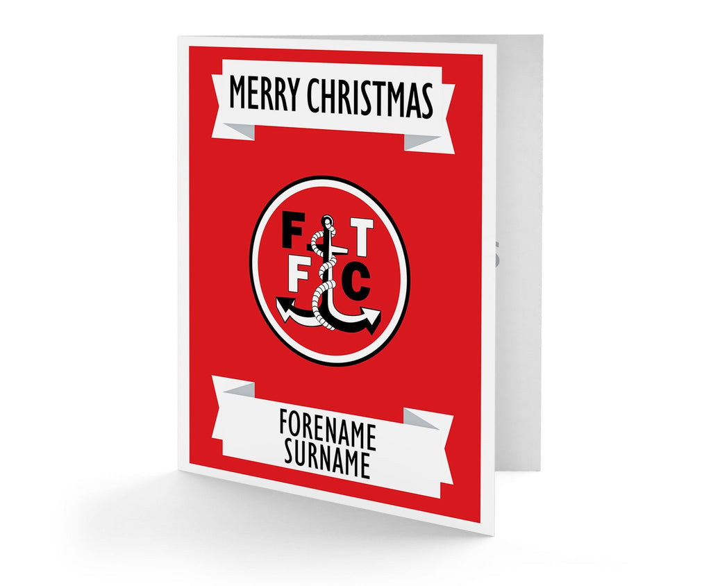 Personalised Fleetwood Christmas Card - Official Merchandise Gifts
