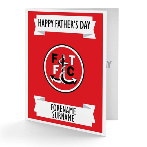 Personalised Fleetwood Fathers Day Card - Official Merchandise Gifts