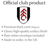Personalised Fulham Birthday Card - Official Merchandise Gifts
