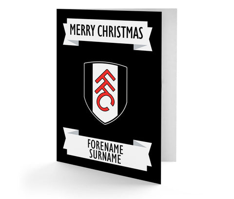 Personalised Fulham Christmas Card - Official Merchandise Gifts