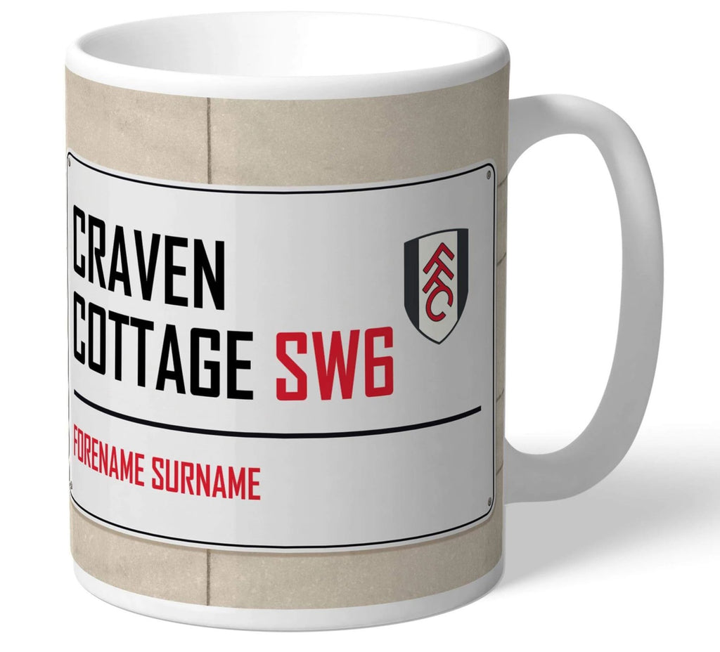 Personalised Fulham Mug - Street Sign - Official Merchandise Gifts