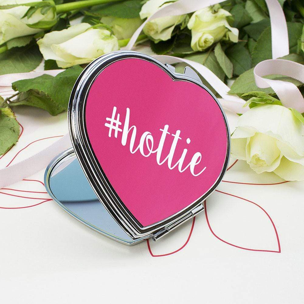 Personalised Hashtag Heart Compact Mirror, Cosmetic Tools by Glamorous Gifts