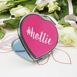 Personalised Hashtag Heart Compact Mirror - Official Merchandise Gifts