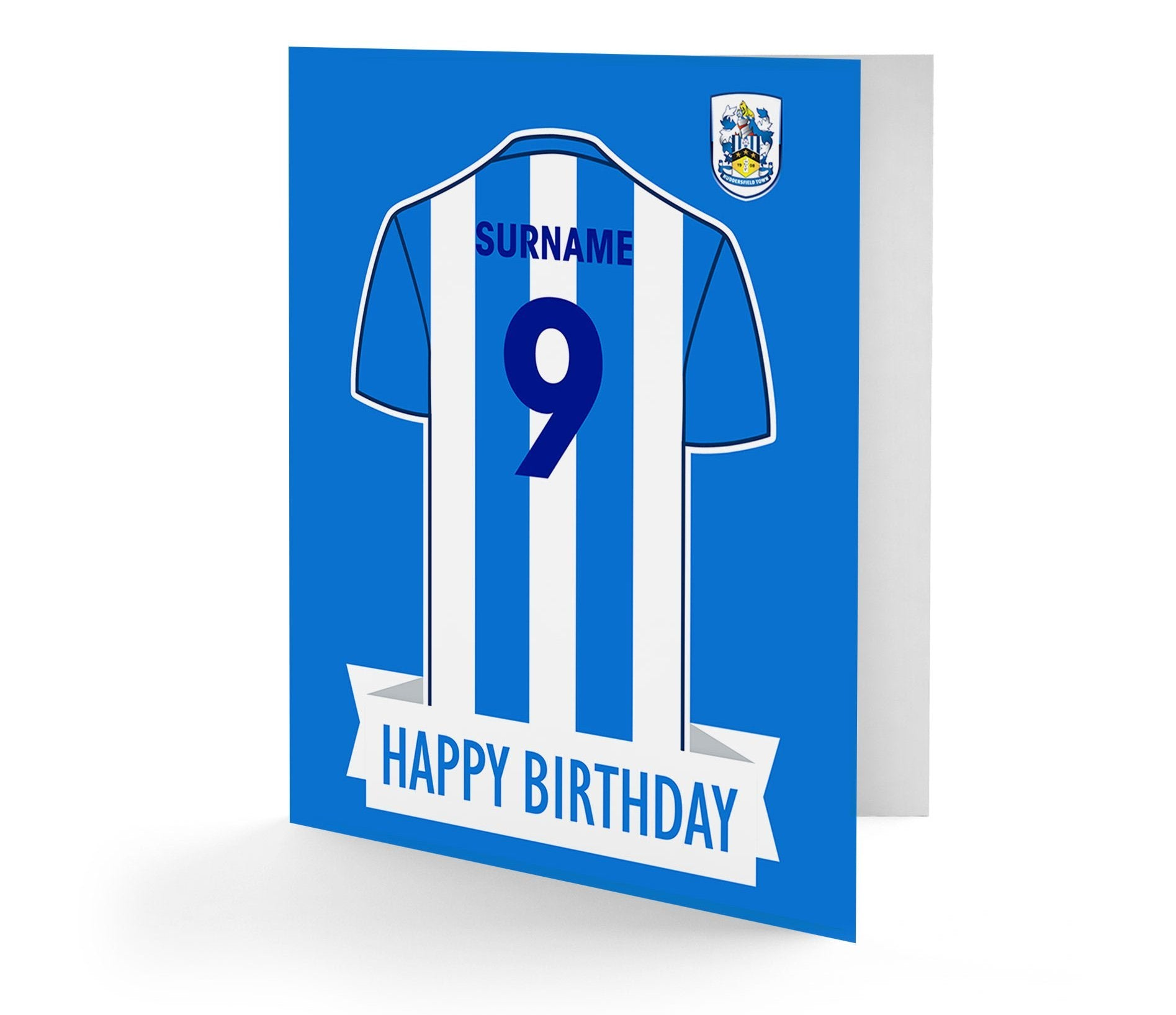 Personalised Huddersfield Birthday Card, Gift Giving by Glamorous Gifts