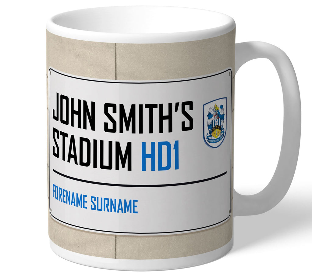 Personalised Huddersfield Mug - Street Sign - Official Merchandise Gifts