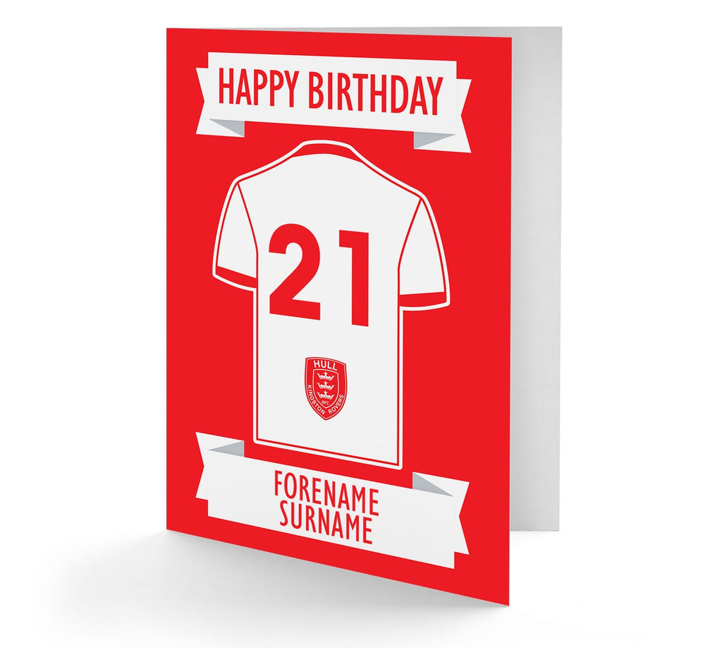 Personalised Hull Kingston Rovers Birthday Card - Official Merchandise Gifts