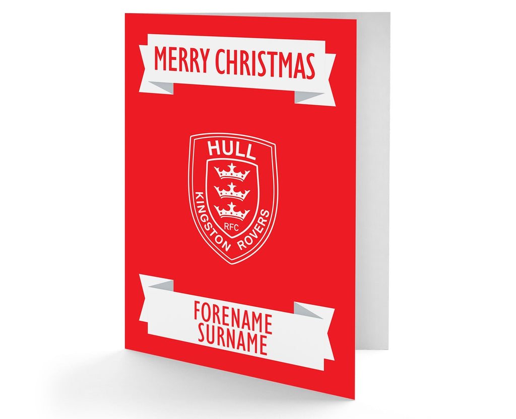 Personalised Hull KR Christmas Card - Official Merchandise Gifts