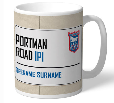Personalised Ipswich Mug - Street Sign - Official Merchandise Gifts