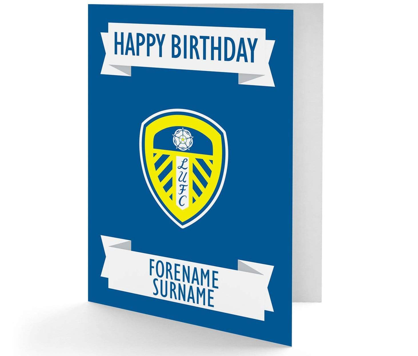 LEEDS UNITED PERSONALISED A5 BIRTHDAY CARD ANY NAME ANY AGE