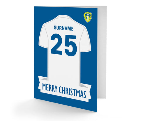 Personalised Leeds Christmas Card - Official Merchandise Gifts