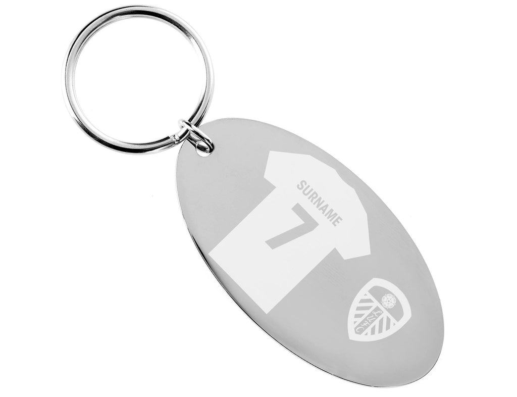 Personalised Leeds Keyring - Official Merchandise Gifts